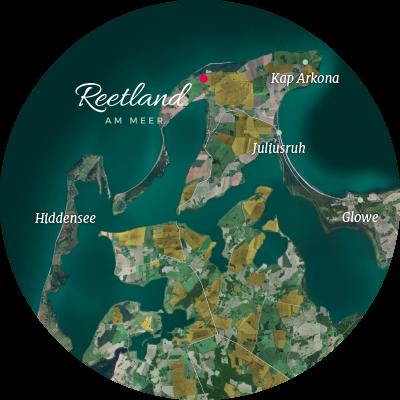 Rügen Dranske Brakenberg Lage Meer